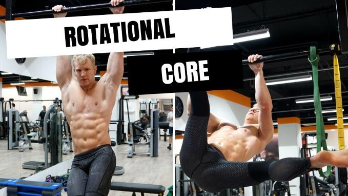 Rotational core exercises