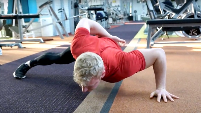 how to one arm push up