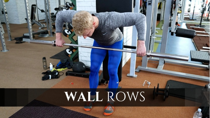 wall row for best back exercises