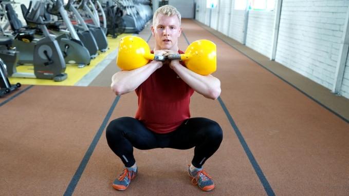 front squat strength kettlebell workout