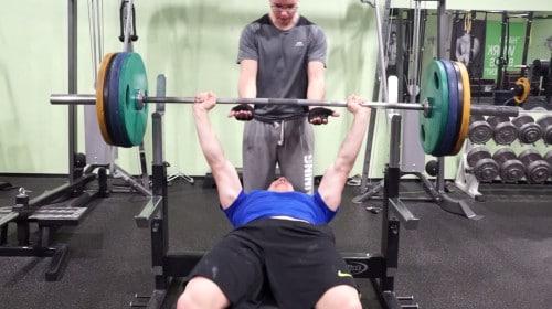 supramaximal bench press hold