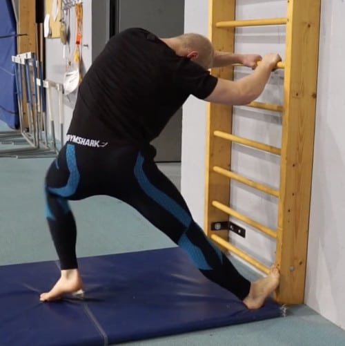 lats stretch stall bars