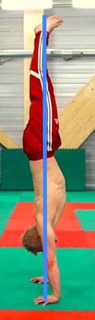 straight handstand