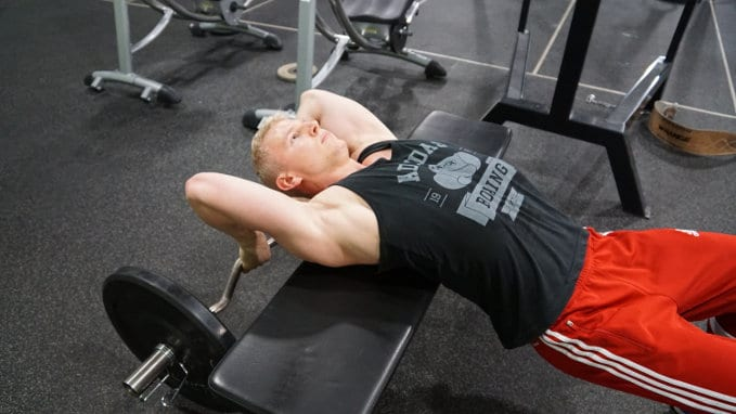 bent-arm barbell pullovers for sternum pain