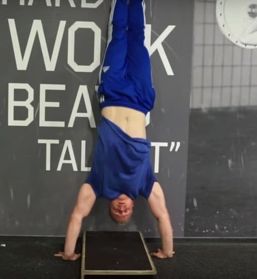 elevated handstand push ups