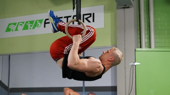 front lever row