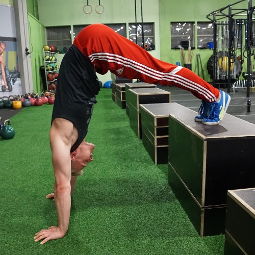 supported handstand push ups