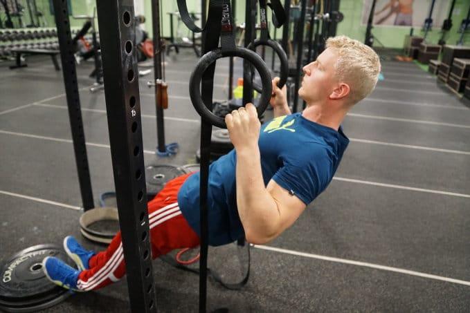 inverted row calisthenics exercise