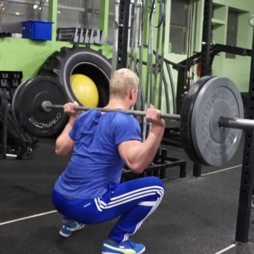 jon jones workout squat
