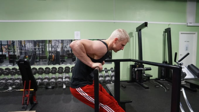 single bar russian dips for muscle ups