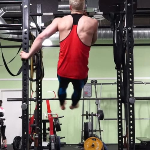supported one arm chin up