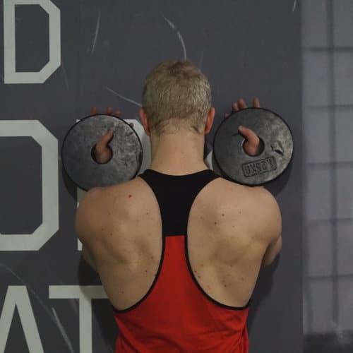 upward rotation against a wall