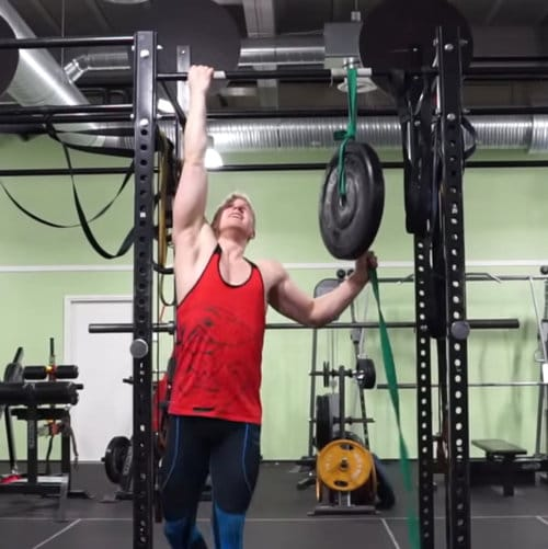 plate assisted one arm chin up