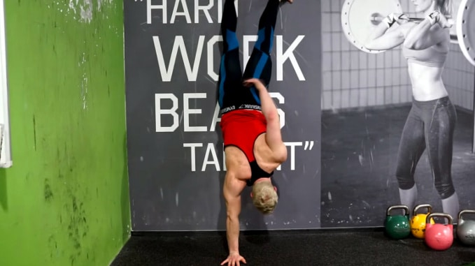 handstand wall walks