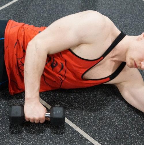 lying rotator cuff exercise