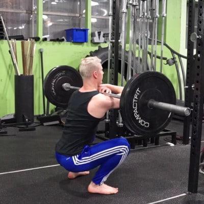 pause front squat for squat mobility