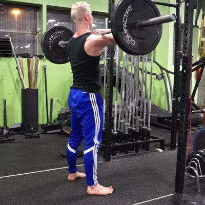 pause front squats for hip mobility