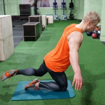 one leg jump exercise