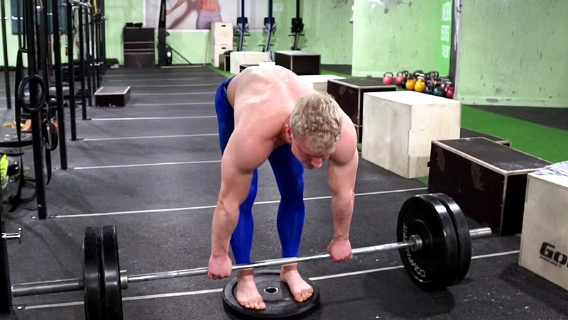 Elevated romanian deadlifts