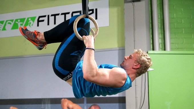 front lever rows for back and abs