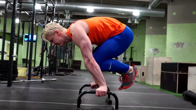 tuck planche to L-sit abs workout