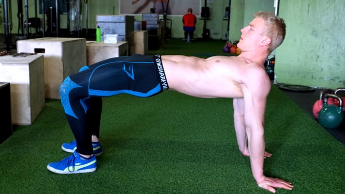table mobility drill for shoulders