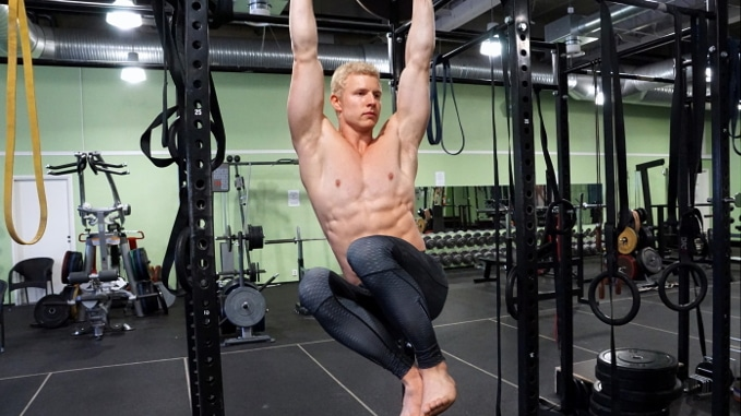 hanging oblique crunch for obliques