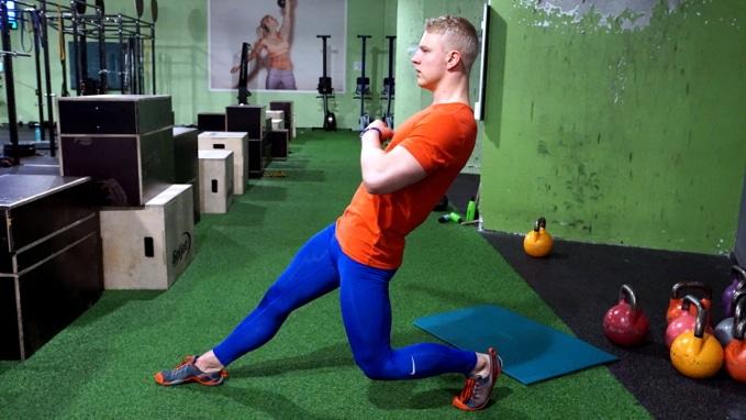 hip flexor exercise single leg sissy squat