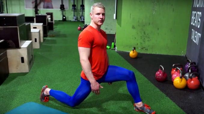 lunge for hip flexors