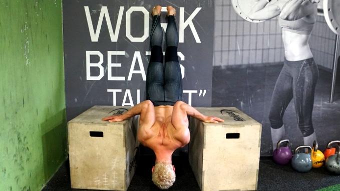deep handstand push ups