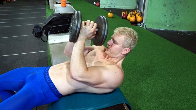 round press for shoulders and triceps
