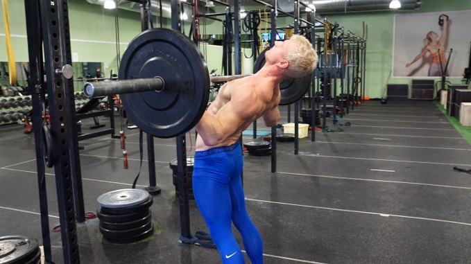 old school over head press for upper body strength