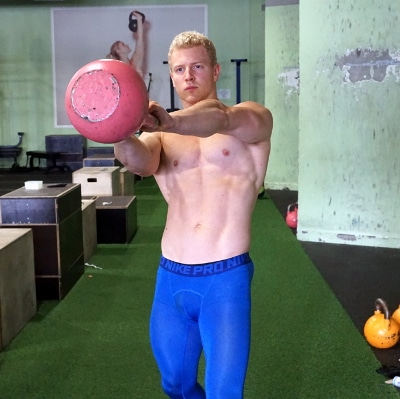 side kettlebell swing for sports