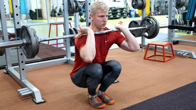 narrow front squat