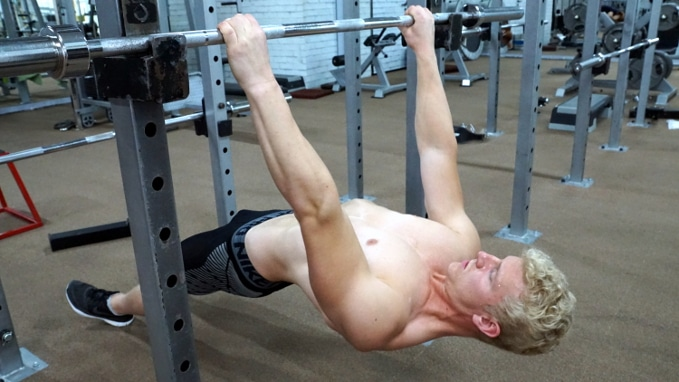 inverted row shrugs