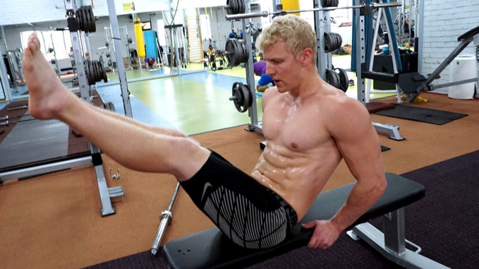 leg raise superset