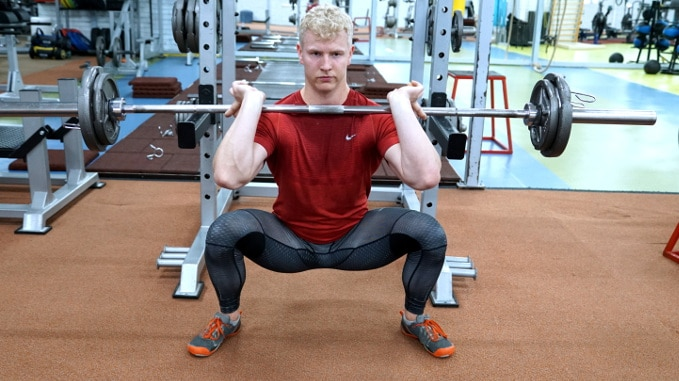 wide normal squat