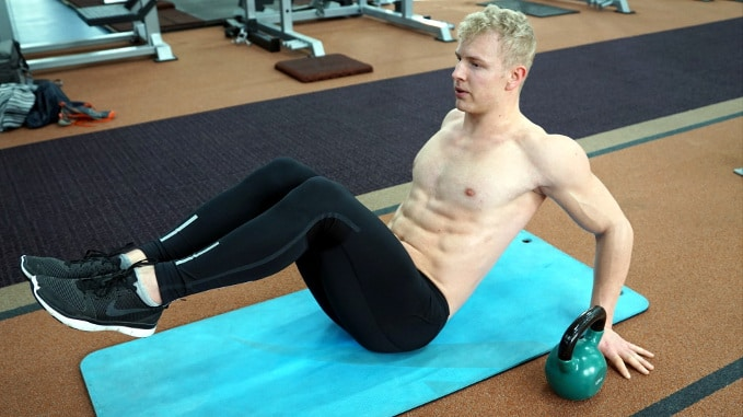 knee up abs exercise