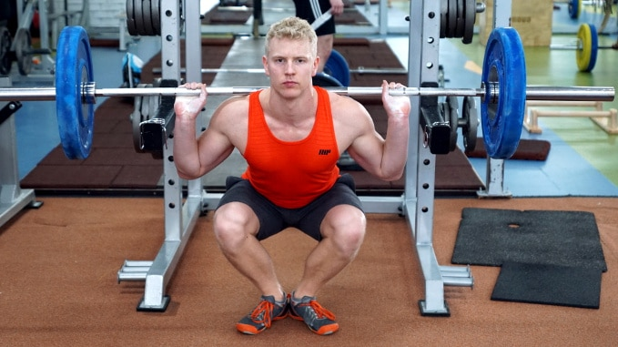 duck stance squat for quads