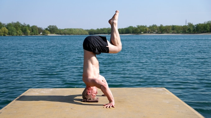 headstand movement yoga