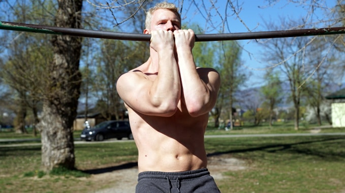 shield pull ups for inner head of biceps