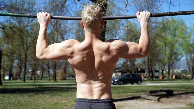 wide pull ups for brachialis