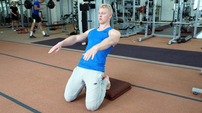 elevated sissy squat for quads
