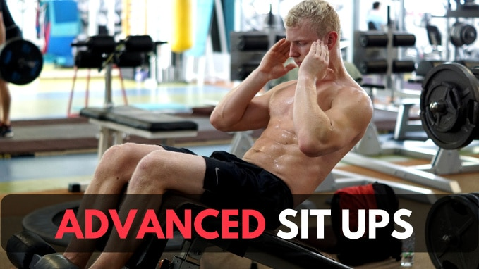 advanced sit ups for abs and hip flexors