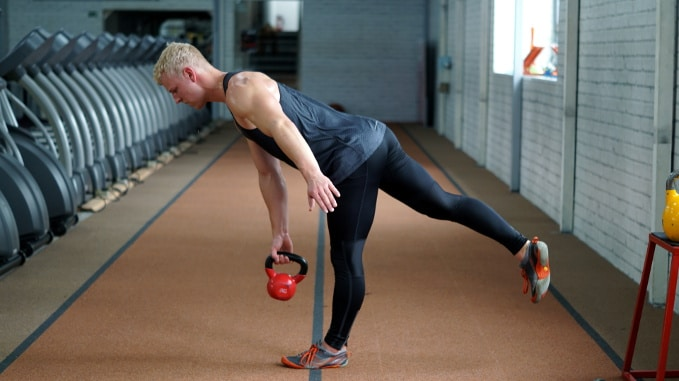 one leg stability row