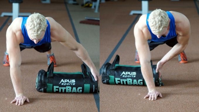 plank pull through stability core