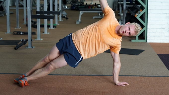 side plank for obliques six pack abs