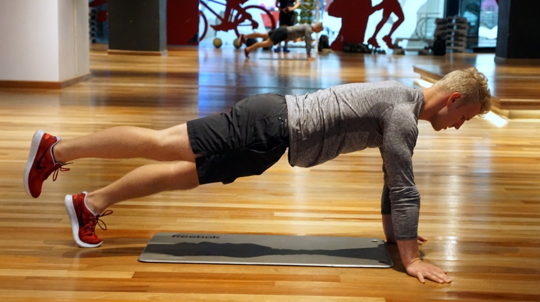 plank extension for abs and lower back