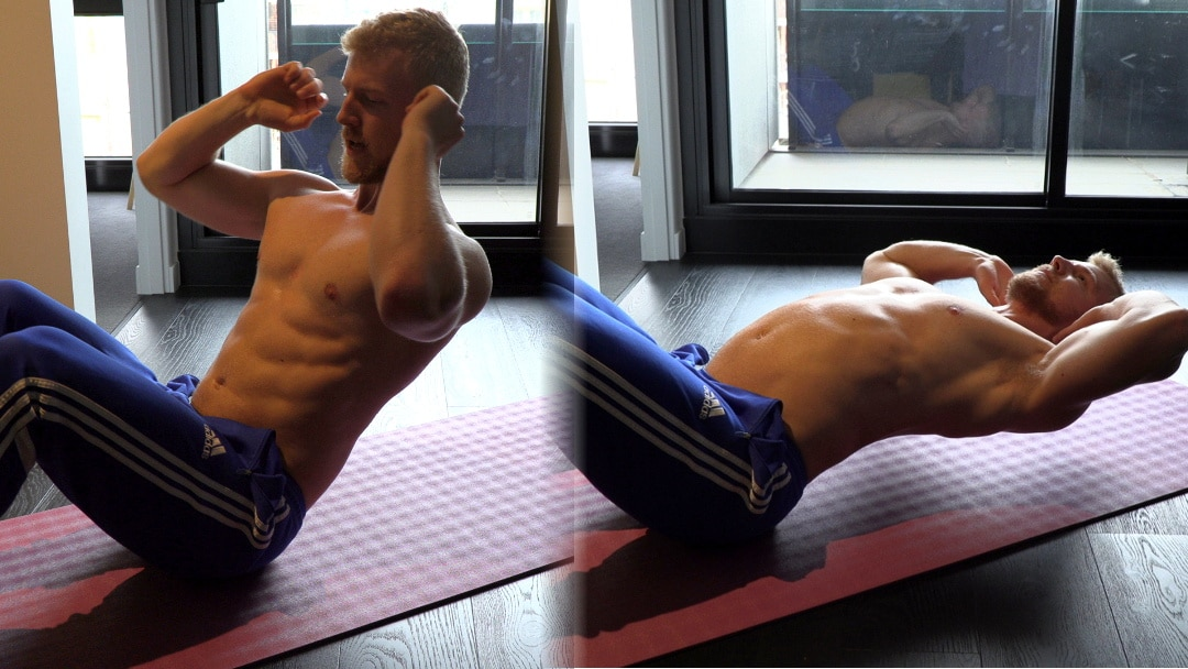 arched abs crunch sit up