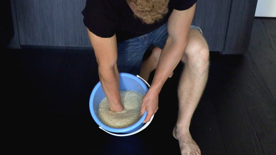 rice bucket for forearms